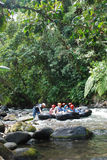 Rafting on a river in Mindo, Ecuador Stock Photography