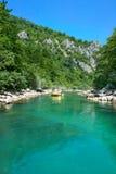 Rafting  of River Neretva , Bosnia and Herzegovina Stock Photo