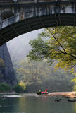 Rafting on the River of Nine Bends, Wuyishan, China Stock Images