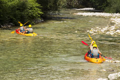Rafting on the river Royalty Free Stock Image