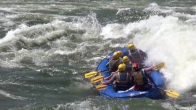 Rafting in rough waters the White Nile stock footage