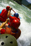 Rafting team close-up Stock Images