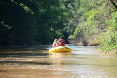 Rafting in thailand. Rafting down the river at Umphang, Tak, Thailand Stock Photos