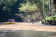 Rafting in thailand. Rafting down the river at Umphang, Tak, Thailand Stock Images
