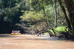 Rafting in thailand. Rafting down the river at Umphang, Tak, Thailand Royalty Free Stock Photography