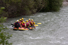 Rafting in the Verdon Gorge. Stock Image