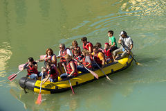 Rafting in Verona - Adige River Royalty Free Stock Photography