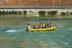 Rafting in Verona - Adige River Royalty Free Stock Photos