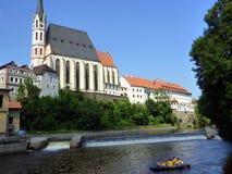 Rafting on Vltava River, Cesky Krumlov, Czech Republic Royalty Free Stock Images