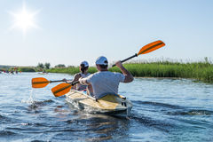 Rafting on the Vorskla River. Stock Photos