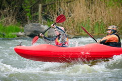 Rafting on the water. Royalty Free Stock Images
