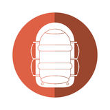 Rafting water sport adventure camping button shadow Royalty Free Stock Photo