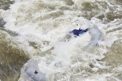 Rafting in the white water Stock Photo