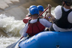 Rafting in Whitewater Rapids Royalty Free Stock Photography