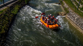 Rafting on wild river Royalty Free Stock Image