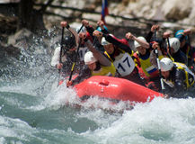 Rafting in wild water Royalty-vrije Stock Afbeelding