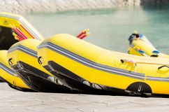 Raftingsboten stock foto's