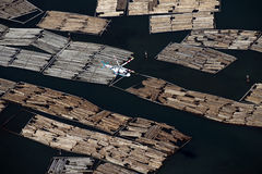 Rafts on the sea by Point Gray in Vancouver Stock Photos
