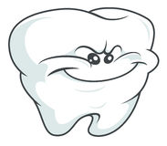 Сrafty tooth. In cartoon style Stock Photo