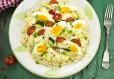 Ragù della verdura dell'uovo immagini stock libere da diritti