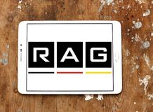 RAG coal mining corporation logo. Logo of RAG coal mining on samsung tablet. RAG AG, formerly Ruhrkohle AG, is the largest German coal mining corporation Royalty Free Stock Photography