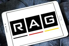 RAG coal mining corporation logo. Logo of RAG coal mining on samsung tablet. RAG AG, formerly Ruhrkohle AG, is the largest German coal mining corporation Royalty Free Stock Image