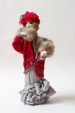 Rag doll. Hand-made rag doll made of textile Royalty Free Stock Photo