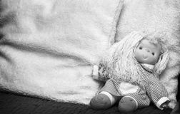 Rag doll. Abandoned rag doll, end of childhood Stock Image