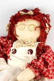 Rag Doll. Handmade rag doll.  Made by my sister as a gift Stock Images