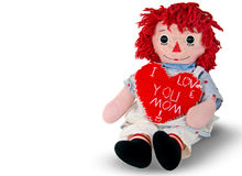 Rag doll with homemade heart Stock Images