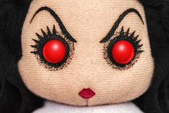Rag Doll Portrait. Evil Devil Rag Doll Portrait Stock Photography