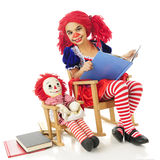 Rag Doll Read Royalty Free Stock Photos