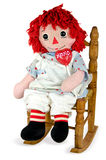 rag doll with red heart lollipop royalty free stock image