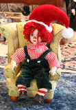 Rag Doll with Santa Hat Royalty Free Stock Photography