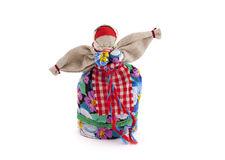 Rag doll . Rag doll on a white background isolated Royalty Free Stock Photos