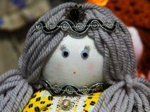 Rag doll woman. Desk at the flea market: handmade rag doll woman Royalty Free Stock Photography