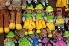 Rag dolls - alberobello Royalty Free Stock Photos