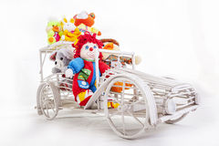 Rag dolls on a car Royalty Free Stock Photo