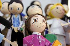 Rag dolls Fabric dolls. Royalty Free Stock Photography