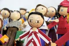 Rag dolls Fabric dolls. Stock Photos
