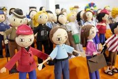 Rag dolls Fabric dolls. Royalty Free Stock Images