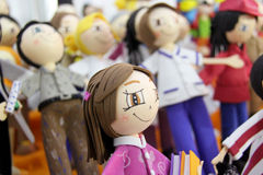 Rag dolls Fabric dolls. Stock Photography