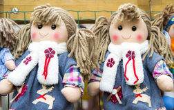 Rag dolls. Like a twins Stock Photography