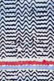 Rag rug. Detail of hand woven ragrug Royalty Free Stock Image