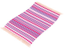 Rag Rug Flying Carpet Magenta Pink Purple Rosy. Rag rug - rosy pink vintage, flying like a magic carpet. Illustration over white background Stock Photo