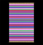 Rag Rug. Illustration of a Rag Rug. Isolated vector on black background Stock Photos