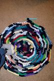 Rag rug making Royalty Free Stock Photo