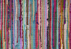 Rag Rug. Tee shirt rug texture background Stock Image