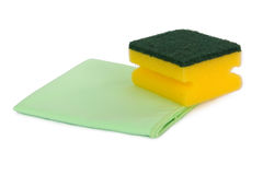 Rag and Sponge for Cleaning Stock Photo