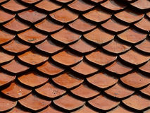 Rag. Wat Pho roof tiles form the background Royalty Free Stock Photo